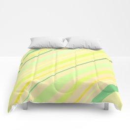 Fresh Lime Sideways Stripy Comforters