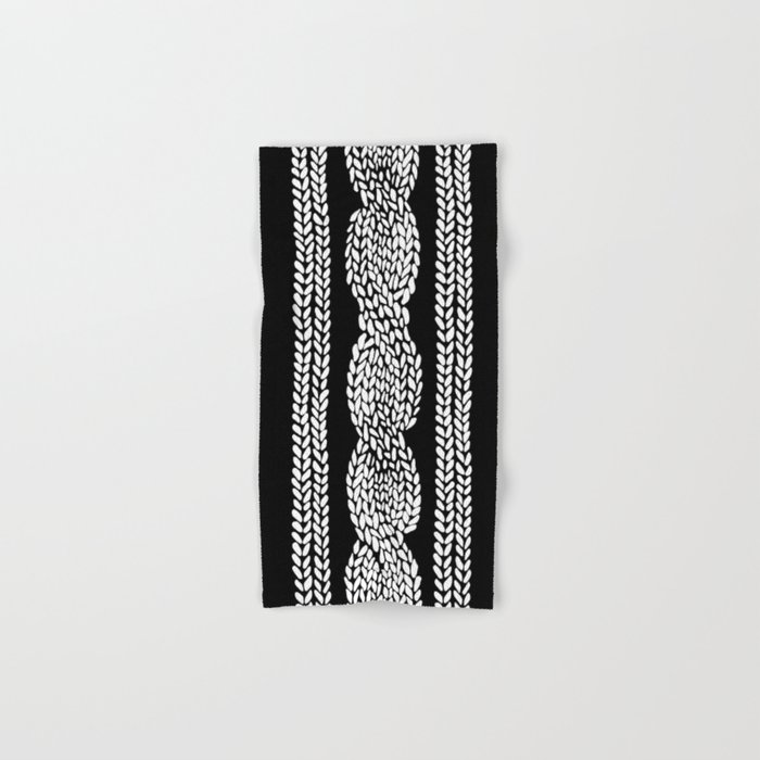 Cable Row Black Hand & Bath Towel