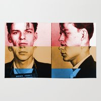 frank sinatra Area & Throw Rugs featuring Classic Frank Sinatra  by Brandon Minieri