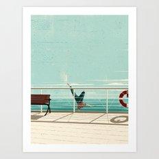 Man Overboard Art Print