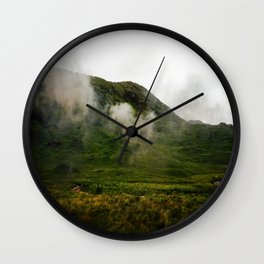 Green Land Wall Clock