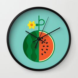 Fruit: Watermelon Wall Clock