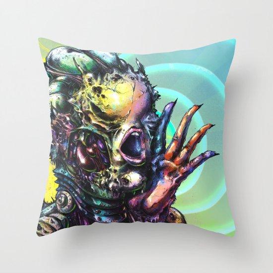 The Deceitful Siren Throw Pillow