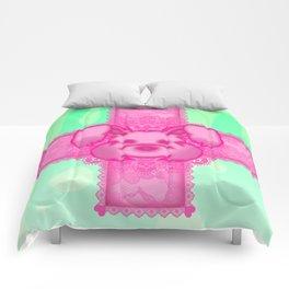 Broken Bones Bunny Comforters