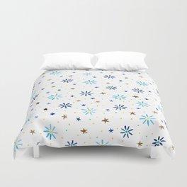Watercolour Daisies & Stars Duvet Cover