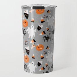 Spooky Halloween Spiders/Pumpkin/Ghosts/CandyCorn Travel Mug