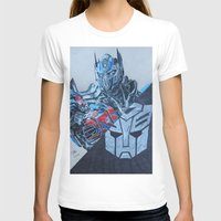 optimus prime T-shirts featuring Optimus Prime  by JMH Art