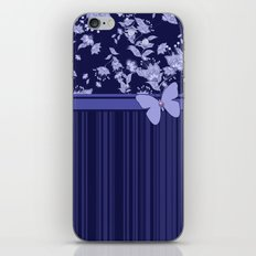 Colorful combined pattern in blue tones.  iPhone & iPod Skin
