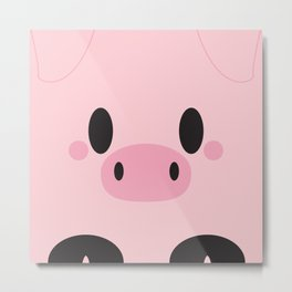Piggy Block Metal Print