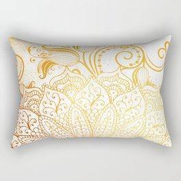 Mandala - Golden brush Rectangular Pillow