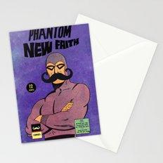 phantom moustache Stationery Cards