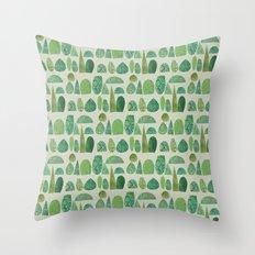 Watercolour Topiary Throw Pillow