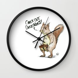 A Sassy Squirrel Wall Clock