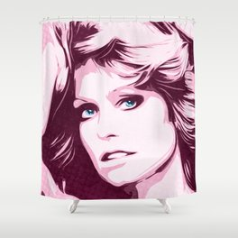Farrah Fawcett - Classic - Pop Art Shower Curtain