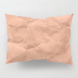 Kraft paper. crumpled paper Pillow Sham