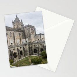 Wonderful view of the lovely cloister garden of the Cathedral of Evora, in Portugal. Stationery Cards