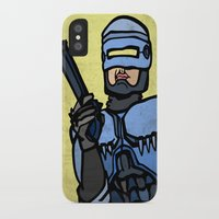 robocop iPhone & iPod Cases featuring RoboCop by Rat McDirtmouth