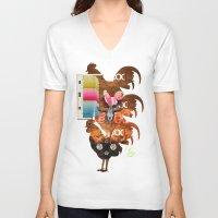 woody V-neck T-shirts featuring WOODY by Leonardo Tezcucano