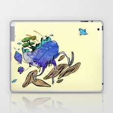 explore (blue) Laptop & iPad Skin