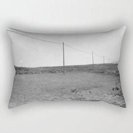 A line in the Desert Rectangular Pillow