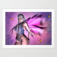 Sexy Fairy Girl Art Print
