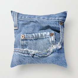 Old Jeans Throw Pillow