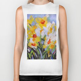Daffodil Tangle Biker Tank