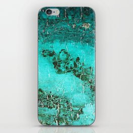 Abstract Turquoise Art iPhone Skin