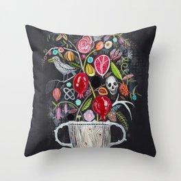 Dark Garden Throw Pillow