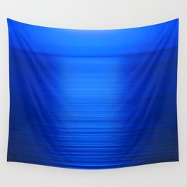 Sunset on the Water-Deep Blue Wall Tapestry