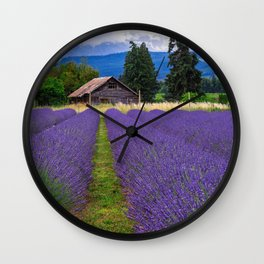 Little Lavender Farm Wall Clock