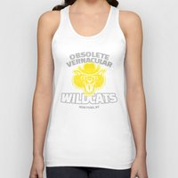 tenenbaums Tank Tops featuring Obsolete Vernacular Wildcats (Royal Tenenbaums) by Tabner's