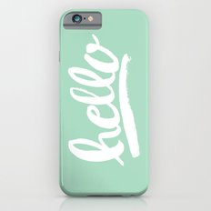 Hello Hand lettering - Mint Slim Case iPhone 6s