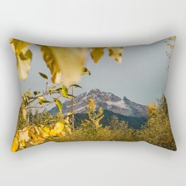 Mt. Hood Through The Leaves Rectangular Pillow