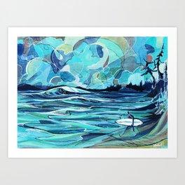 Surf Check Art Print