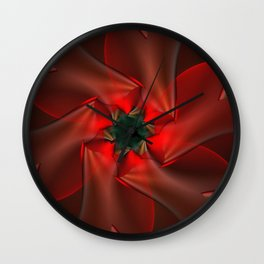 Merry Christmas With Love Wall Clock