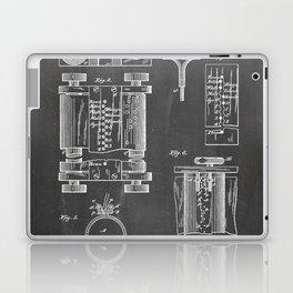First Computer Patent - Technology Art - Black Chalkboard Laptop & iPad Skin