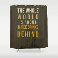 actor Shower Curtains featuring movie actor quote by Larsson Stevensem