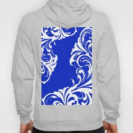 Damask Blue and White Hoody