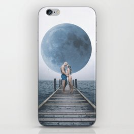 The Kiss on The Dock Blue Moon iPhone Skin