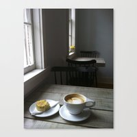 cafe Canvas Prints featuring CAFE by Rachel Craig