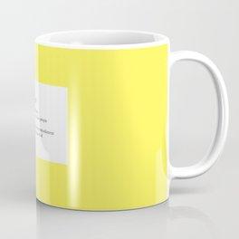 Yellow fever, a defnition Coffee Mug