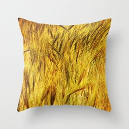 Wild Grass Burnished By The Sun Throw Pillow