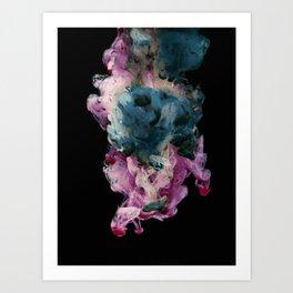 Colored Smoke Three Art Print
