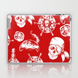 Red Pirate Pattern Laptop & iPad Skin
