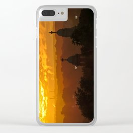 Stormy Summer Sunset (2) Clear iPhone Case