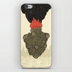 Endure Burning - Viktor Frankl Quote - wood heart iPhone & iPod Skin