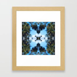 Trees + Clouds Framed Art Print