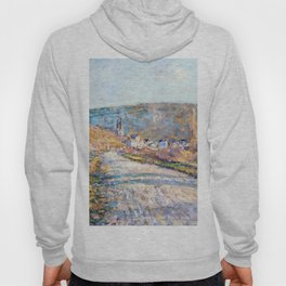 1879-Claude Monet-The Road to Vétheuil-23 x 28 Hoody
