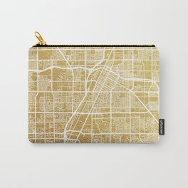 Gold Las Vegas map Carry-All Pouch